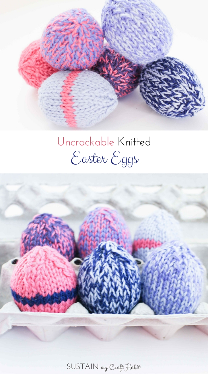 Grab the free pattern to make these adorable knitted Easter eggs.