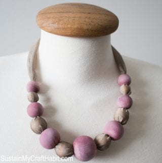 A Berry Silk Necklace