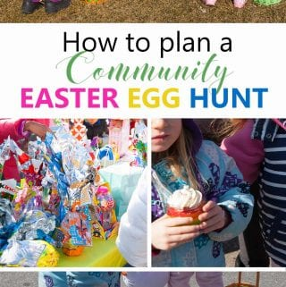 Great tips and ideas on how to plan a community Easter egg hunt event.