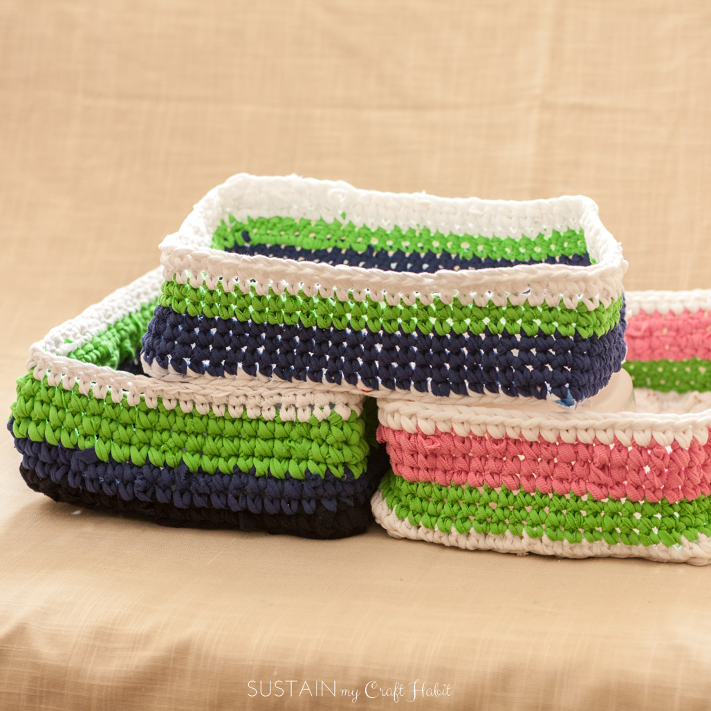 Organize your Laundry Room: Rectangular Basket Crochet ...