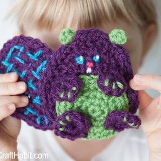 Baby Beaver Free Crochet Appliqué Pattern