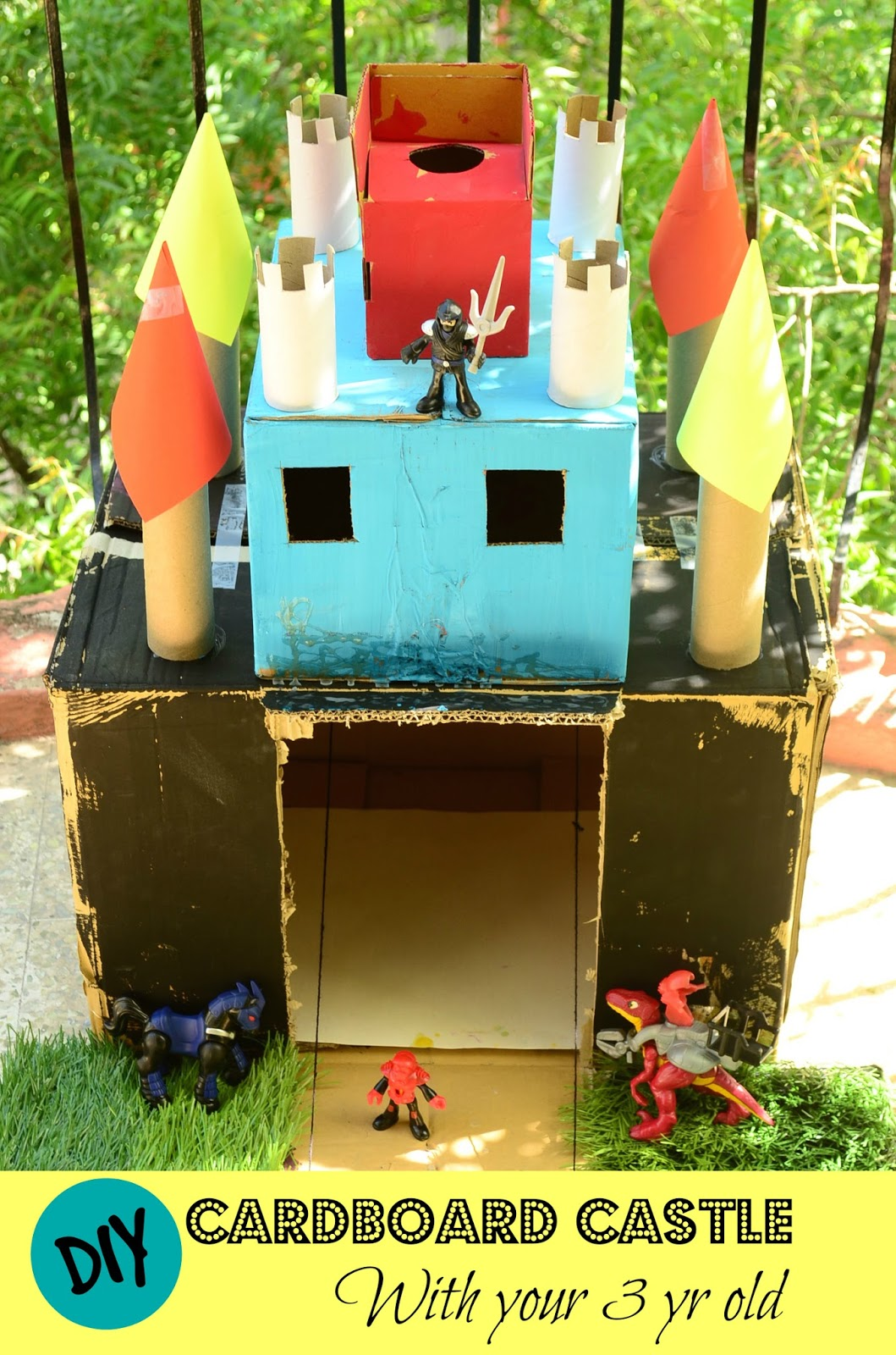 DIY Cardboard Castle - Featured Post HMLP 45