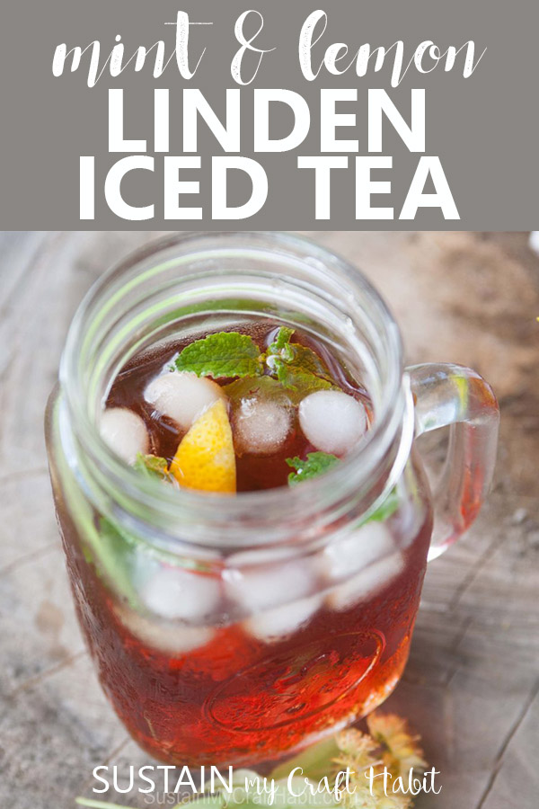 Iced Linden tea infused with lemon and mint