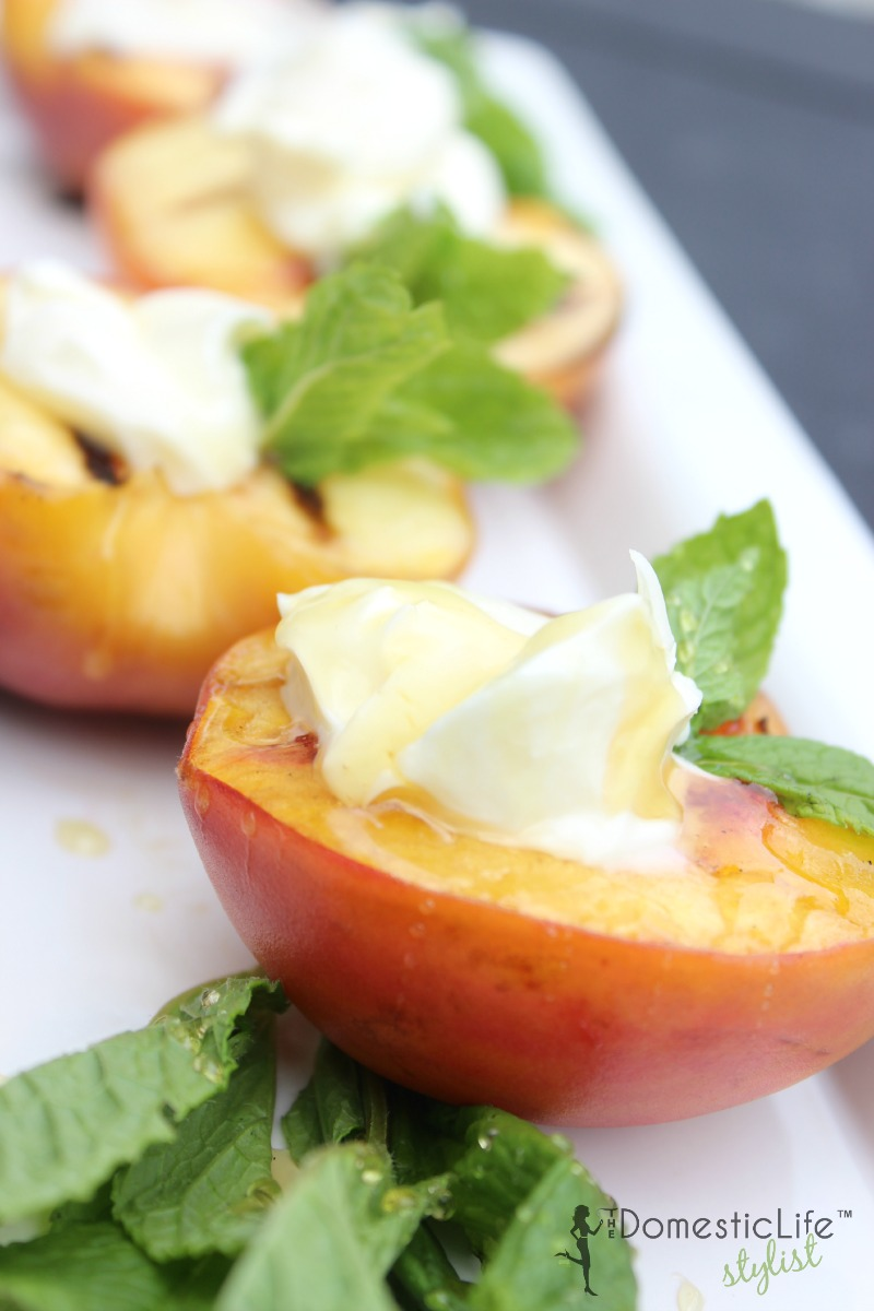 Grilled Peaches with Mascarpone - HMLP 47 Feature
