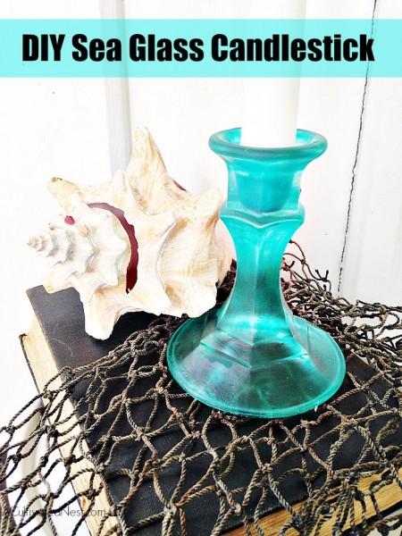 DIY Sea Glass Candlestick - HMLP 52 Feature