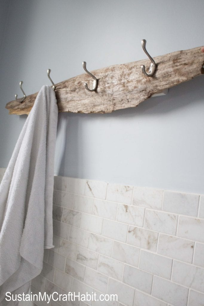 A Beachcomber S Rustic Towel Rack Sustain My Craft Habit