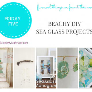 Friday Five: Beachy DIY Sea Glass Crafts