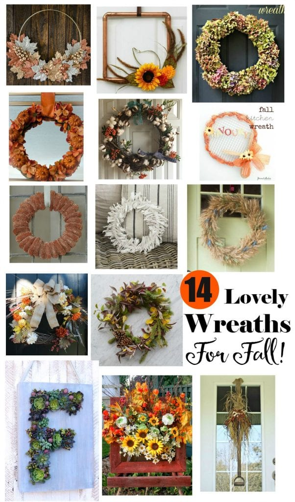 Simple wheat wreath with a twist plus 14 Lovely Wreaths For Fall