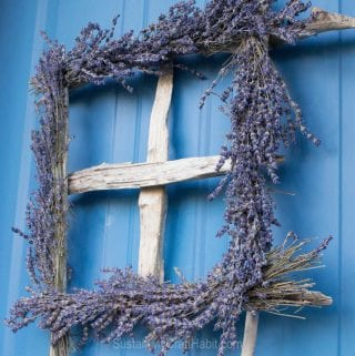 DIY Rustic Driftwood and Fragrant Lavender Wreath