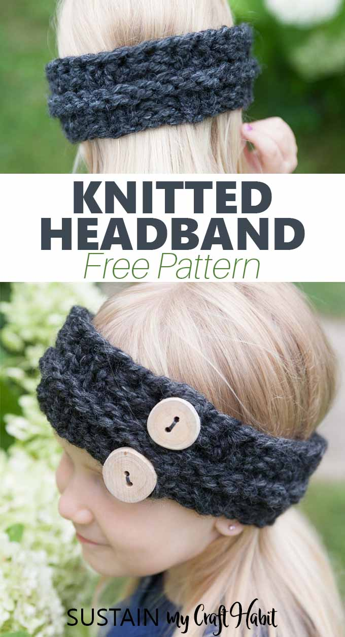 This free knit headband pattern for a child is super quick and easy. A great winter knitting project for beginners and advanced knitters alike.