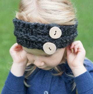 Child's Easy Knitted Headband Pattern