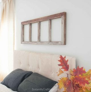 A Rustic Repurposed Window Frame