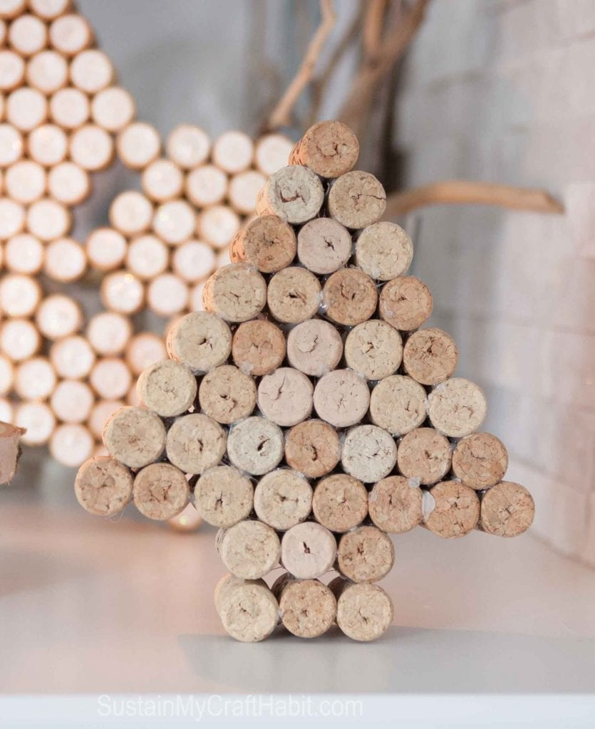 Wine Cork Crafts Sparkling Star Decor Sustain My Craft Habit
