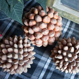 DIY Decorative Hazelnut Ball Ornaments
