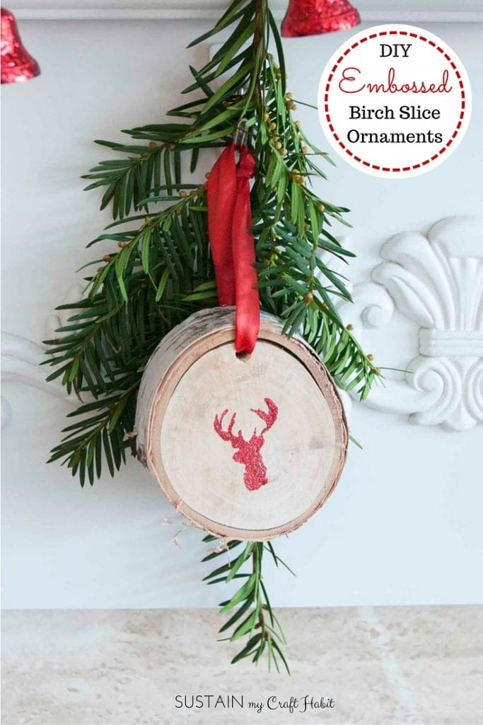 Gorgeous Glittering Wood Slice Ornaments Sustain My Craft Habit