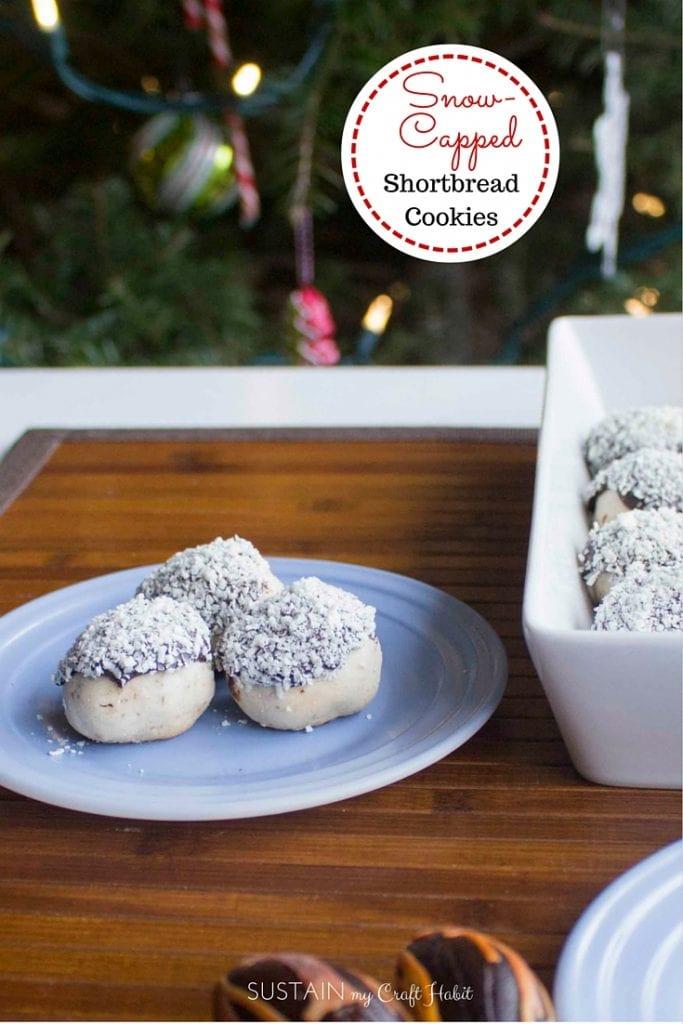 Snowcapped pecan shortbread cookie recipe | Best Christmas Shortbread Cookie Recipe | Easy #shortbread cookie recipes #christmascookie