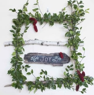 How to Make a Whimsical and Cheery Square Holly Wreath