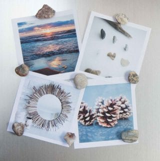 DIY Earthy Rock and Fossil Fridge Magnets