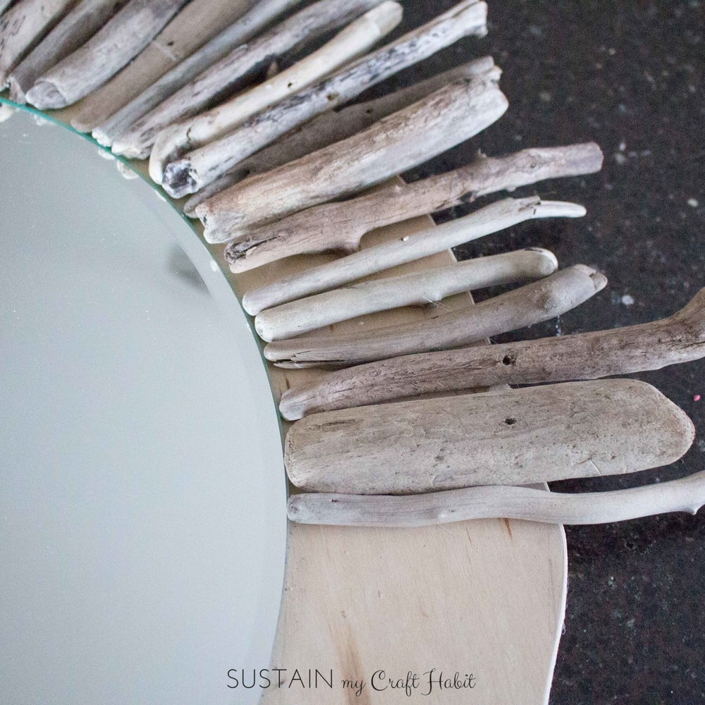 How to make a diy driftwood mirror sustain my craft habit for How to work with driftwood