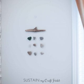 DIY Nautical Decor: Heart Rocks and Sea Glass Mobile