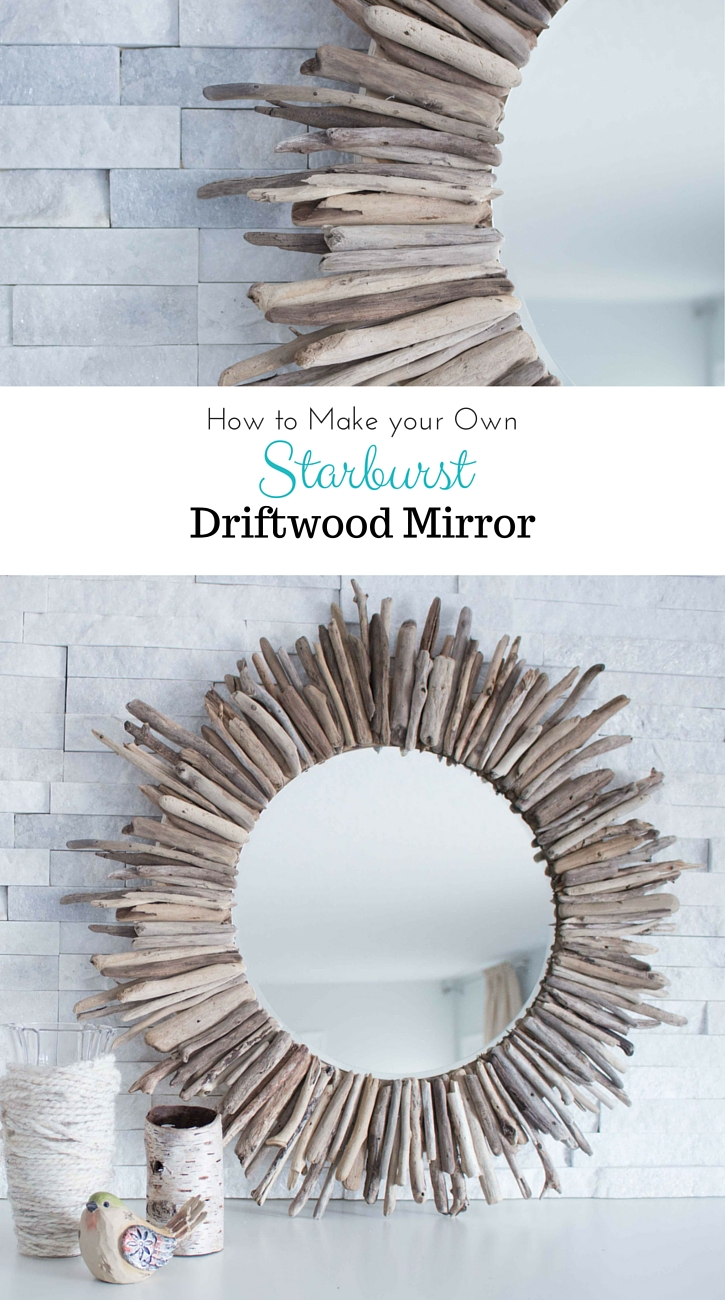 Learn how to make a driftwood mirror | Coastal driftwood mirror tutorial | Coastal cottage decor