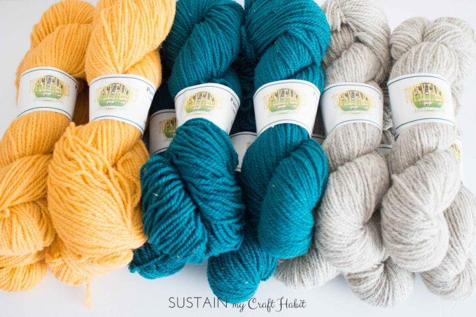 beautiful wool yarn