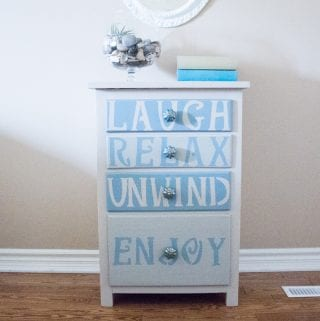 Beach-Inspired Farmhouse Dresser Upcycle: #12MonthsofDIY