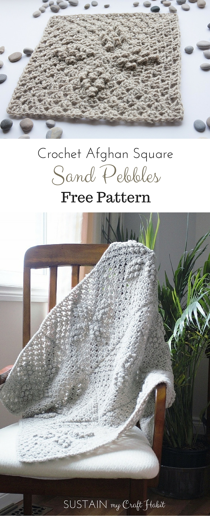 Free crochet afghan patterns. Create your own beautiful beach inspired crochet afghan using 100% Canadian wool with this fabulous and free crochet pattern.