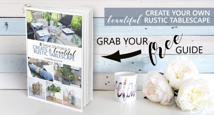 Click to access a free resource guide to create your own rustic tablescape.