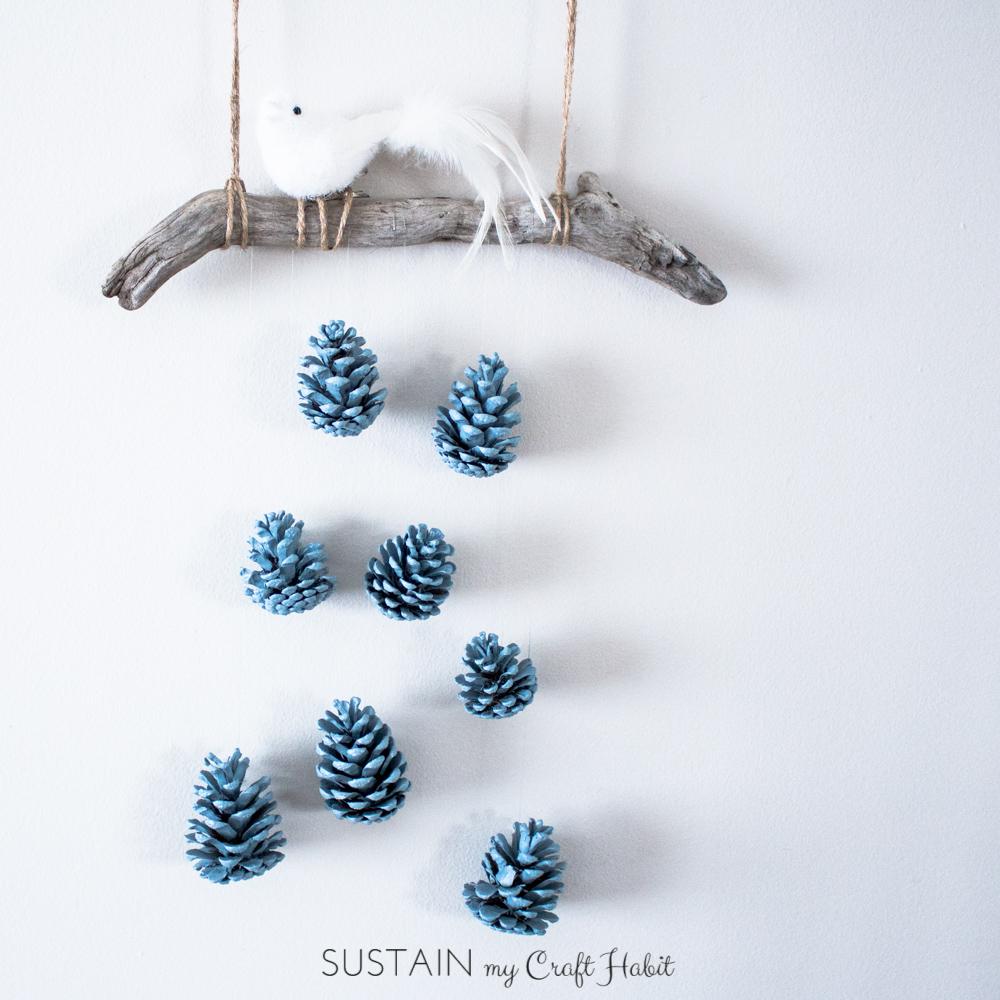 DIY Wall Art: Rustic Pinecone Wall Hanging – Sustain My Craft Habit