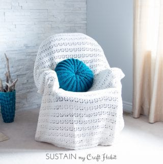Sand Dollar Crochet Pillow Cover Pattern