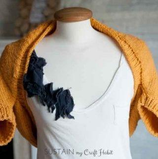 Simple Sunrise Shrug Free Knitting Pattern
