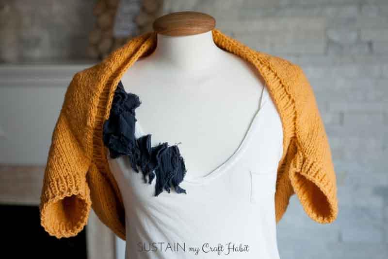 Simple Sunrise Knitted Shrug Pattern Sustain My Craft Habit
