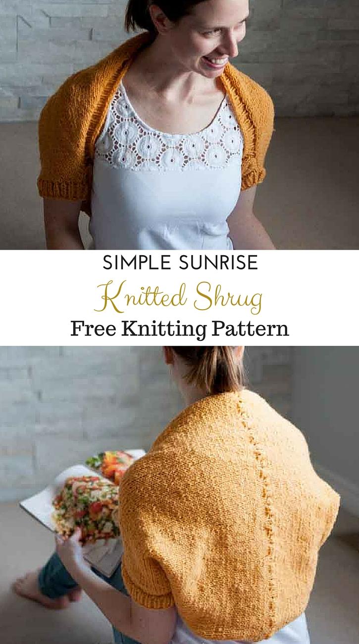 Sunshine Shrug Free Knitting Pattern - Sustain My Craft Habit