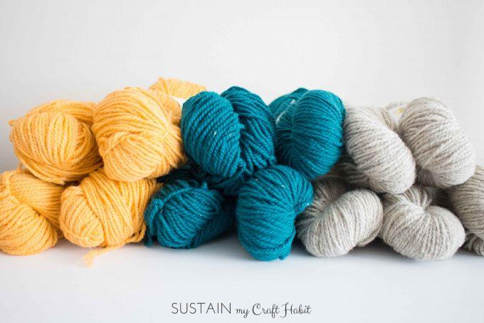 beautiful natural 100% wool yarn