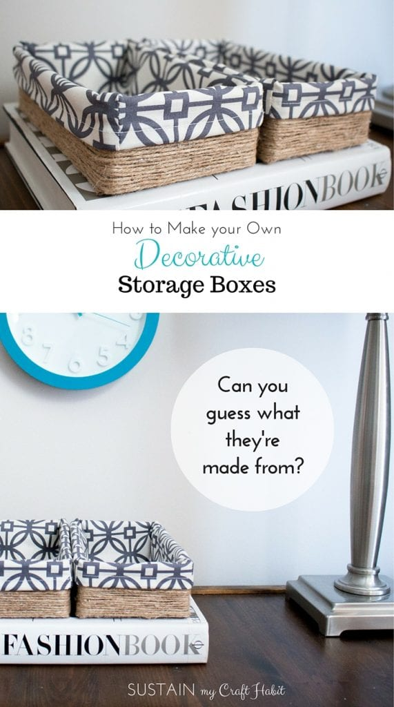 Looking for some cheap DIY organization ideas for the home? Upcycling your empty tissue boxes into beautiful decorative storage boxes is pretty easy using these simple steps. You won't believe the transformation!