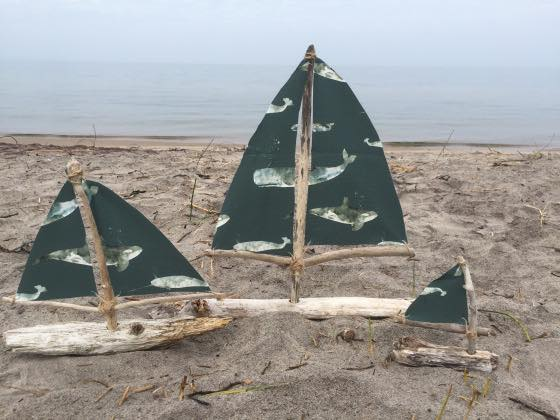 Driftwood sailboats sue sustain my craft habit for Diy driftwood sailboat