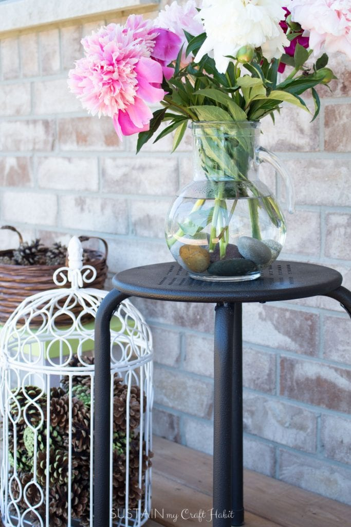 spray painting ideas upcycling outdoor decor for 12monthsofdiy