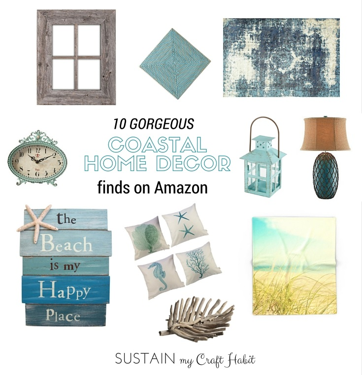 10 gorgeous and affordable coastal home decor finds on for Home decorations amazon
