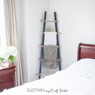 How to Make a DIY Rustic COASTAL Blanket Ladder with Driftwood: The Graystone Beach