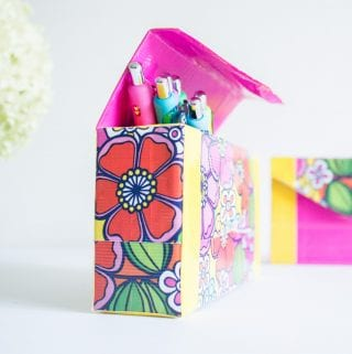 How to make an Upcycled Pencil Case using Duck Tape: A New Back To School Tradition