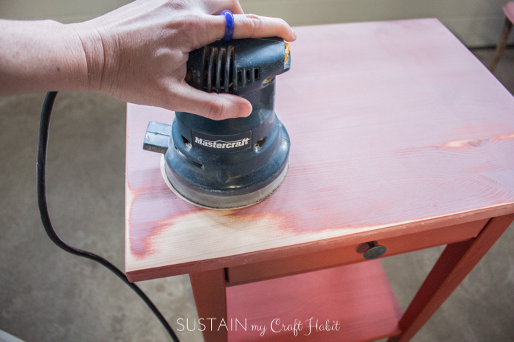 DIY Nightstand Makeover for a Natural Baby Nursery   Sustain My Craft Habit