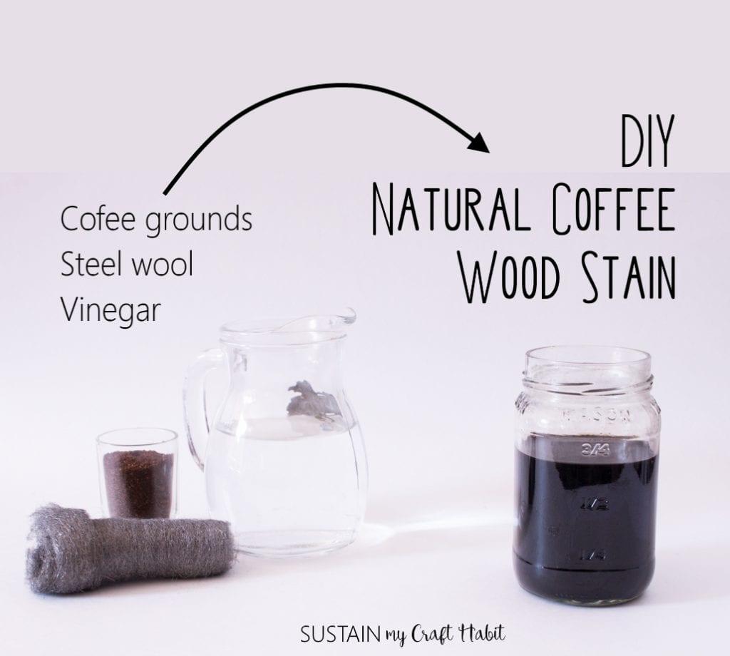 Easy 3 Ingredient DIY Natural Coffee Wood Stain