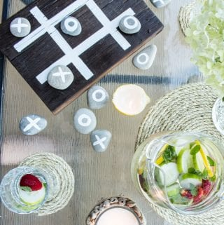 Have a Rock'n Game Night with an Outdoor DIY Tic-Tac-Toe Game