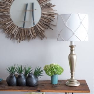 DIY Nautical Table Lamp Makeover