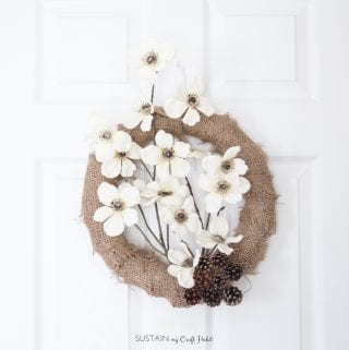 Easy DIY Burlap and Floral Fall Wreath