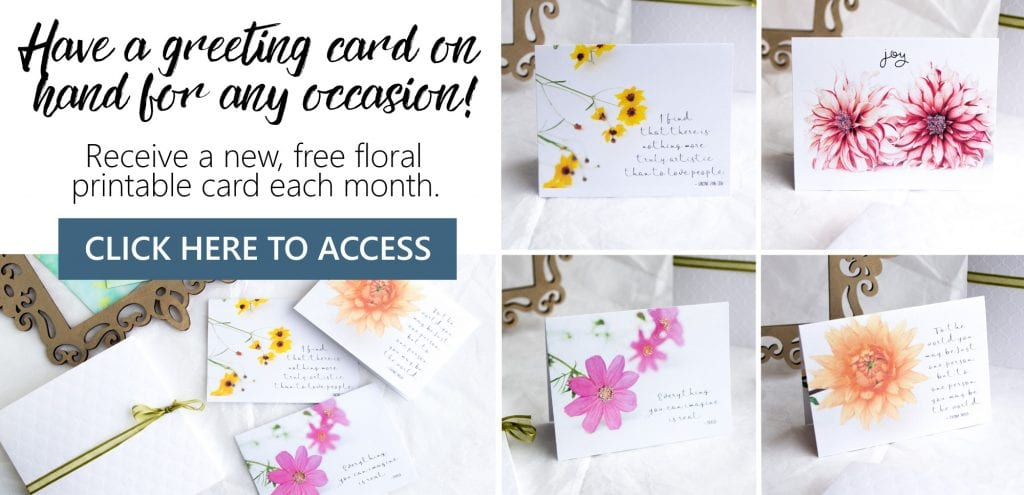 Greeting card printables for every month