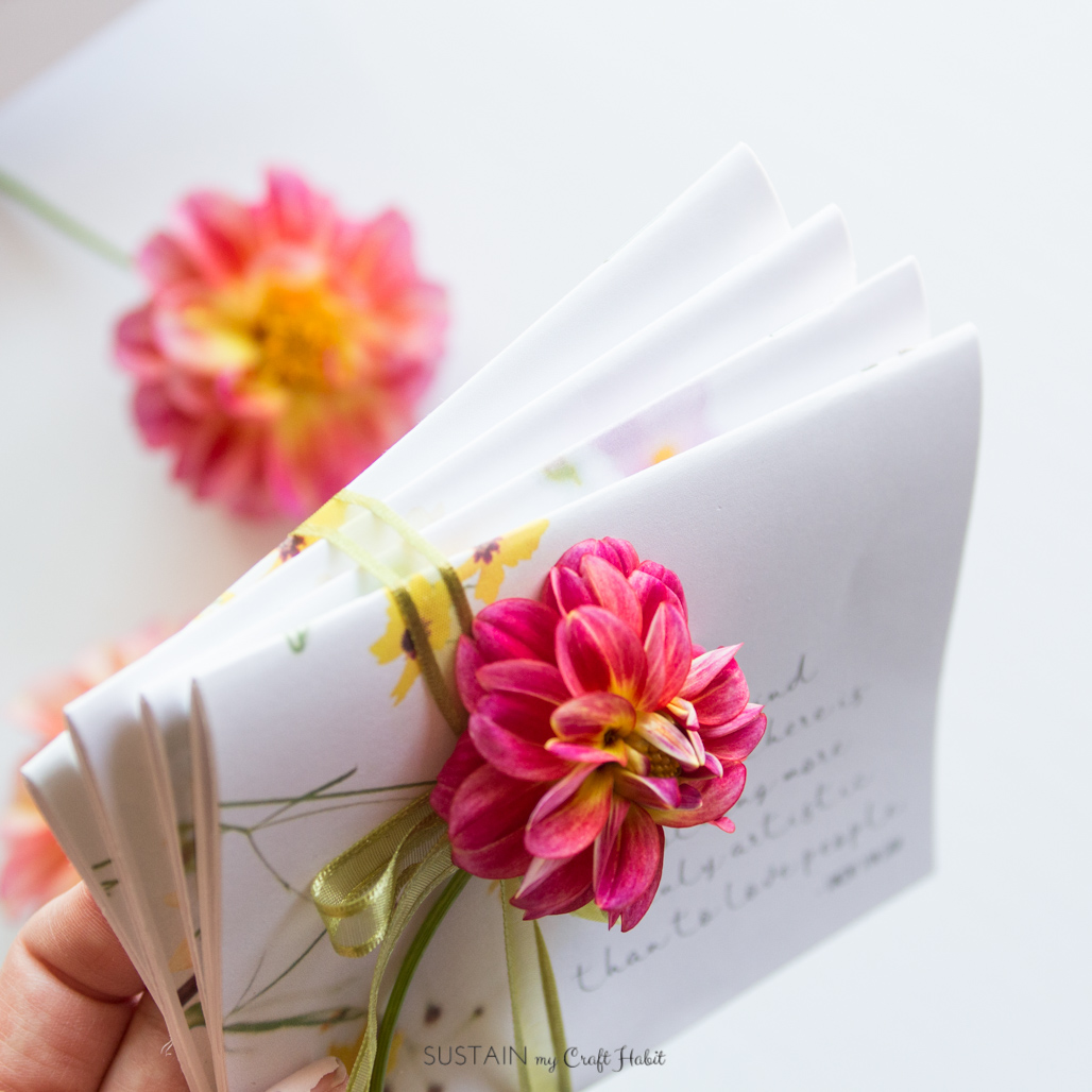 How to make your own miniature diy floral notebooks sustain my how to make your own miniature diy floral notebooks sustain my craft habit mightylinksfo