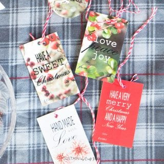 Free Nature-Inspired Printable Christmas Gift Tags