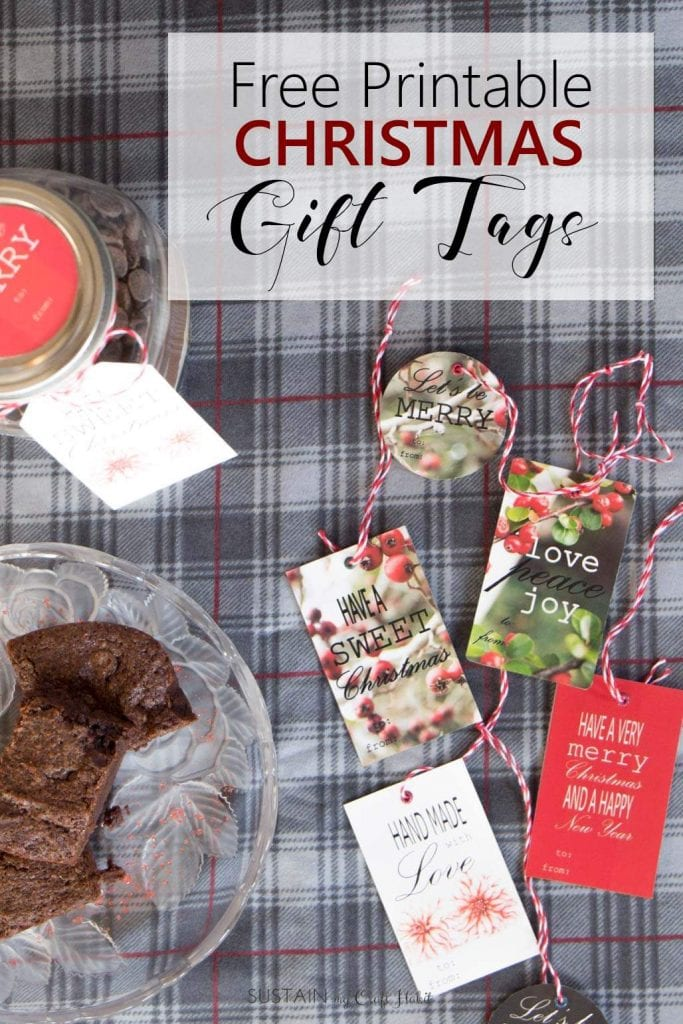 Free christmas food gift tags